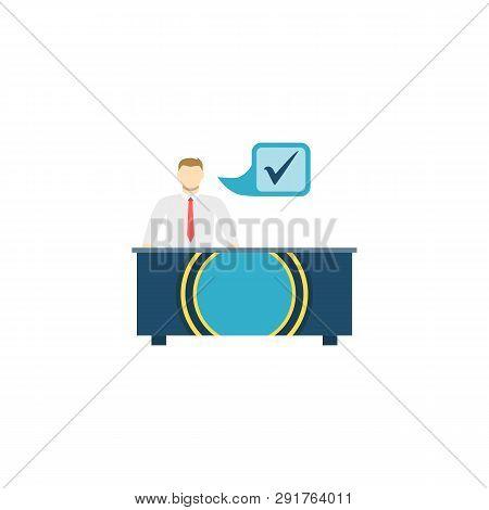 Otc Trading. Otc Trading Vector Flat Icon Isolated On White Background.
