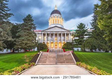 The Maine State House in Augusta, Maine, USA. -