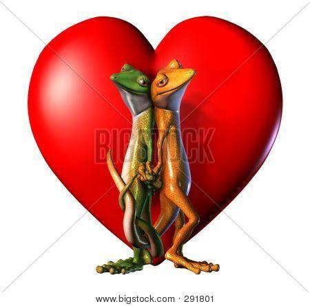 Geckos In Love