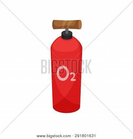 Oxygen Cylinder On White Background. Miner Tool.