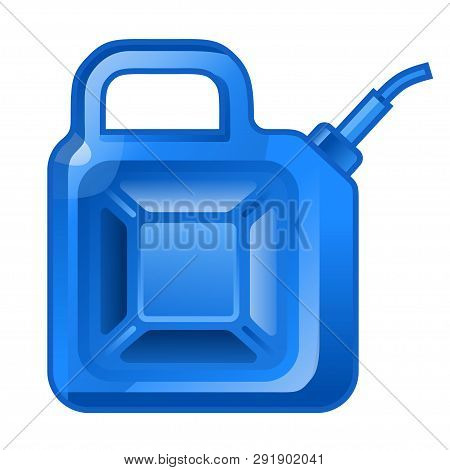 Fuel Jerrycan Icon. Canister For Gasoline. Car Oil Vector Sign