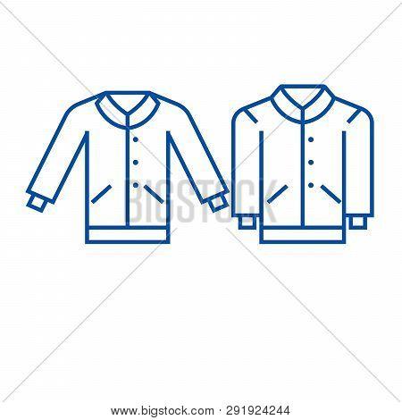 Men Pullover Line Icon Concept. Men Pullover Flat  Vector Symbol, Sign, Outline Illustration.