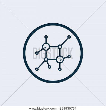 Nanotechnology Icon In Trendy Design Style. Nanotechnology Icon Isolated On White Background. Nanote