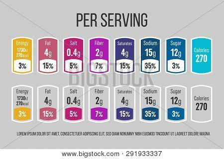 Creative Vector Illustration Of Nutrition Facts Information Label For Cereal Box Package Isolated On
