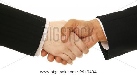 Business People Shake Hand