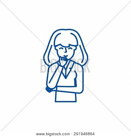 Perplexity line icon concept. Perplexity flat  vector symbol, sign, outline illustration. poster