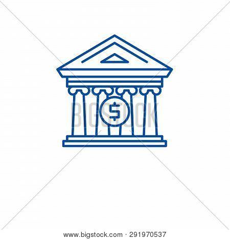 Financial Organization Line Icon Concept. Financial Organization Flat  Vector Symbol, Sign, Outline
