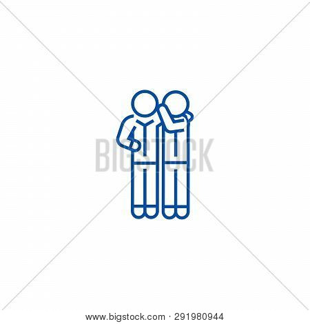Gossip Line Icon Concept. Gossip Flat  Vector Symbol, Sign, Outline Illustration.