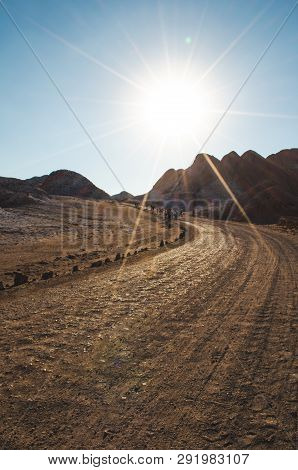 The Atacama Desert, In Spanish Desierto De Atacama, Is A Desert Plateau In South America Covering A