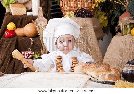 Cute Kid As A Chef