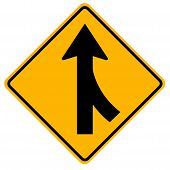 Merges Right Traffic Road Sign,Vector Illustration, Isolate On White Background, Symbols, Icon. EPS10 poster