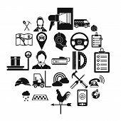 Supervisor icons set. Simple set of 25 supervisor icons for web isolated on white background poster
