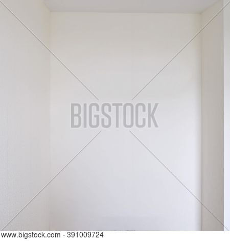 Empty Niche In The Wall For A Built-in Wardrobe, Close-up, Lifestyle