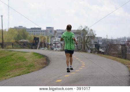Jogging Along The Mississippi