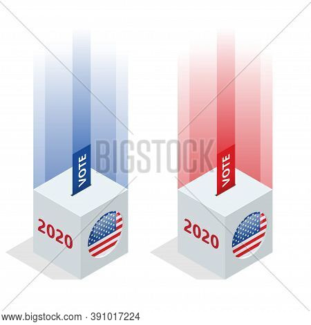 Election Day. Usa Debate Of President Voting 2020. Election Voting Poster. Vote 2020 In Usa, Banner