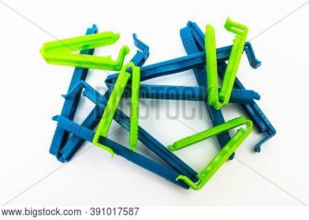 clamps for bags on a white background
