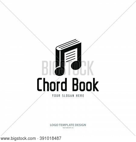 Chord Book Logo Design Template Isolated On White Background