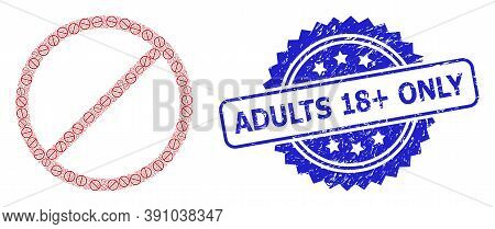 Adults 18 Plus Only Dirty Seal Imitation And Vector Recursive Collage Restrict. Blue Seal Has Adults