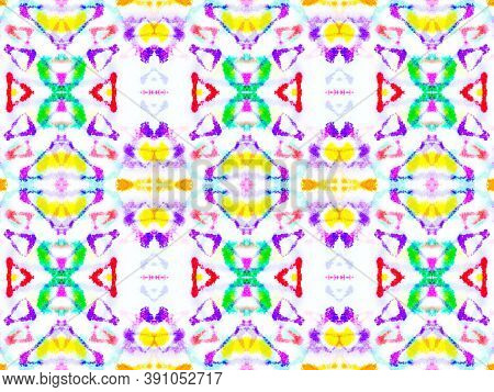 Seamless Azulejo Ornament. Multi Colorful Repeat. Trendy Traditional Background. Textured Abstract A