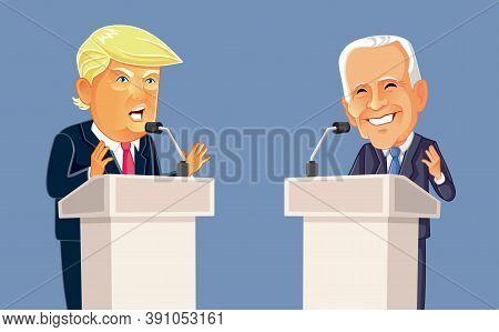 Ny, Usa, September 22, Donald Trump Versus Joe Biden