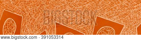 Abstract Mark Scribble. Happy Scratch Drawn. Fall Children Scrawl. Graphic Strokes. Bright Scribble