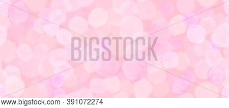 Pastel Seamless Girly Wrapping. Watercolor Blossom Template. Blurred Circular Painting. Modern Circl