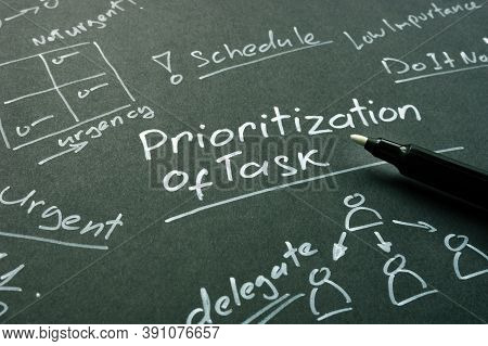 Prioritization Of Task With List, Ideas And Plans On The Paper.