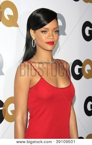 LOS ANGELES, CA - NOVEMBER 13: Rihanna arrives at the GQ Men Of The Year Party at Chateau Marmont Hotel on November 13, 2012 in Los Angeles, California