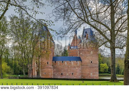 Beersel Castle Is Located In The Belgian Town Of Beersel, Flemish Brabant