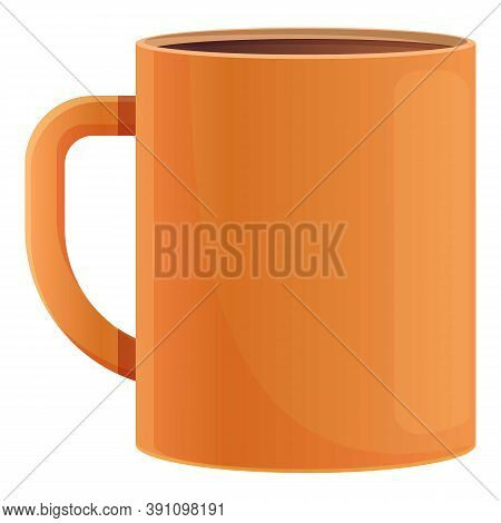 Hot Tea Mug Icon. Cartoon Of Hot Tea Mug Vector Icon For Web Design Isolated On White Background
