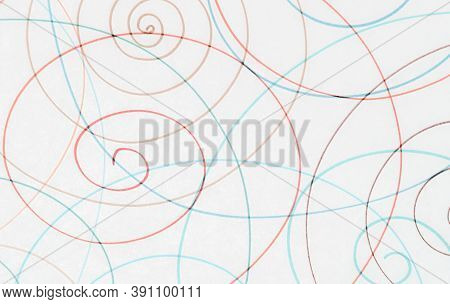 Blue Scribble Background. Tangled Pencil Painting. School Grunge Texture. Geometric Scrawl Design. A