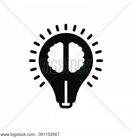 Black Solid Icon For Intelligence Sagacity Dexterity Idea Sapience Prudence Experience Understanding