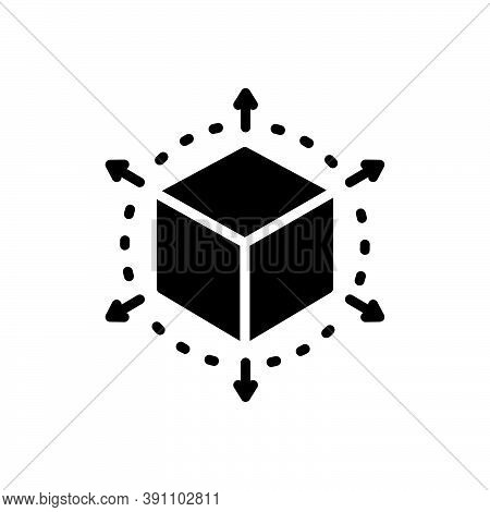 Black Solid Icon For Perspective Cube Connection Geometry Viewpoint