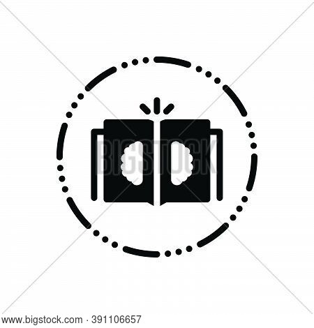 Black Solid Icon For Philosophy Book Mind Philosopher Metaphysician Knowledge Intelligence Science I
