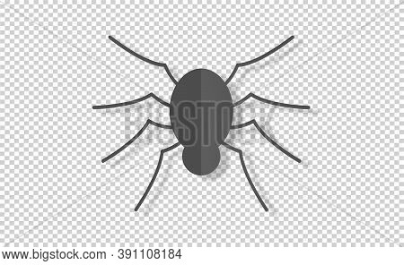 Spider  In Paper Cut  Style On On  Png Or Transparent Background, Happy Halloween Concept, Graphic R