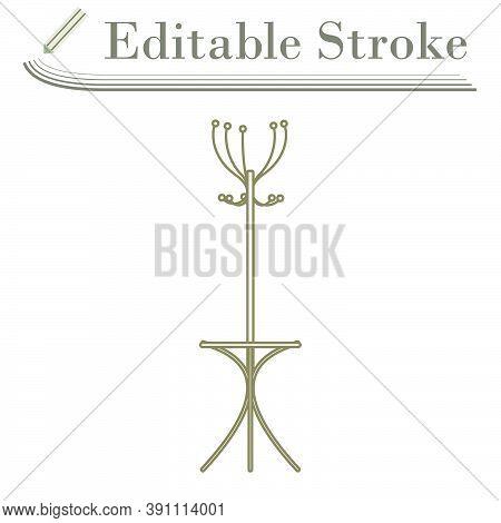 Office Coat Stand Icon. Editable Stroke Simple Design. Vector Illustration.
