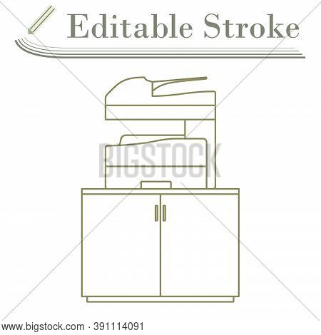 Copying Machine Icon. Editable Stroke Simple Design. Vector Illustration.