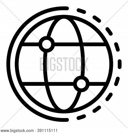 Media Global Network Icon. Outline Media Global Network Vector Icon For Web Design Isolated On White
