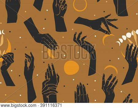 Hand Drawn Vector Abstract Flat Stock Graphic Icon Illustration Sketch Seamless Pattern With Human H