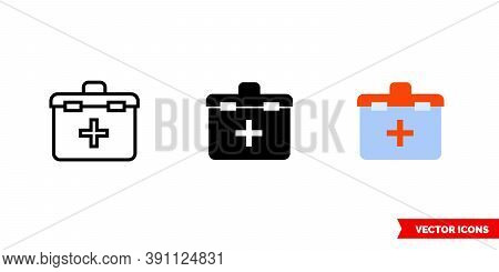 Organ Transplantation Icon Of 3 Types Color, Black And White, Outline. Isolated Vector Sign Symbol.