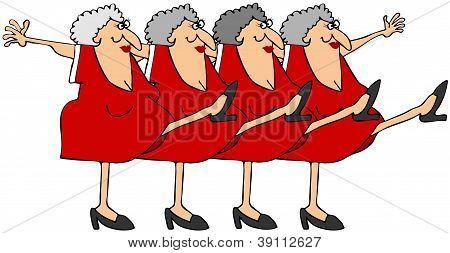 Linha de coro de mulher