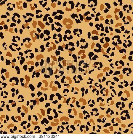 Abstract Seamless Leopard Skin Pattern. Jaguar, Leopard, Cheetah, Panther. Seamless Camouflage Backg