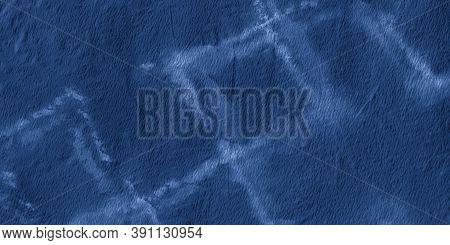 Dark Blue Vintage Chevron. Maritime Dirty Ink Strokes. Indigo Watercolor Diagonal. Maritime Contempo