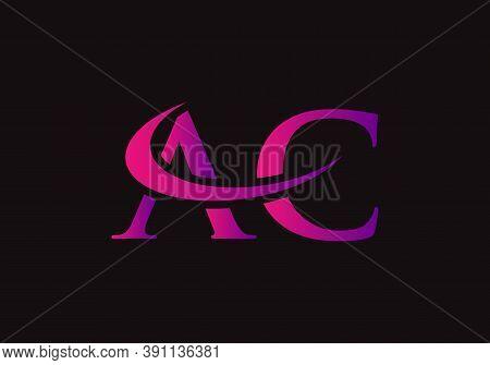 Letter Ac Logo Design With Modern Trendy. Initial Ac Logo.