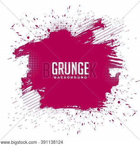 Abstract Messy Grunge Ink Splatter Texture Background