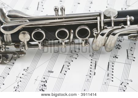 Middle Of A Clarinet With Keys