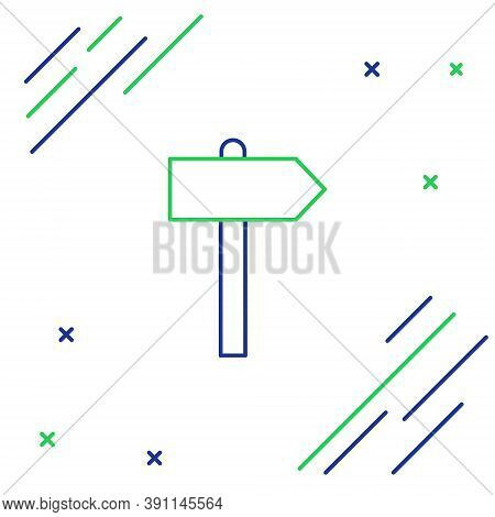 Line Road Traffic Sign. Signpost Icon Isolated On White Background. Pointer Symbol. Street Informati