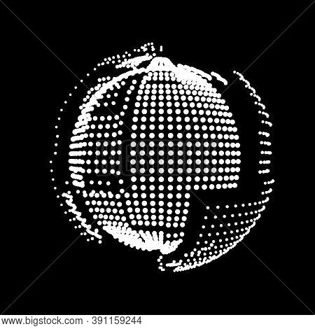 Exploding Sphere. A Star Flashed Like A Grenade. The Planet Is Assembled From Panels. A Satellite Of
