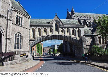 Dublin, Ireland - 03 Aug 2013: Christ Church Cathedral, Dublin, Ireland