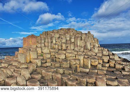 Causeway Of Giants Close Bushmills, Norten Ireland, Uk